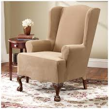 Wing Chair Cover Accessories Wingback Chair Cover Intended For Glorious Queen