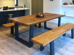 rustic dining table set with bench abacus tables