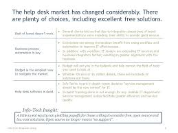 free help desk solutions practical it research that drives measurable results vendor