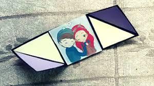 three fold triangle card tutorial diy greeting cards with photos
