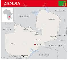 Zambia Map Simple Outline Map Of Zambia Royalty Free Cliparts Vectors And