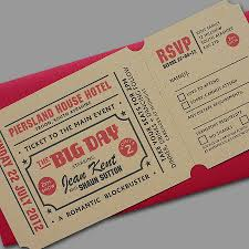 ticket wedding invitations popcorn letterpress wedding stationery by yield ink