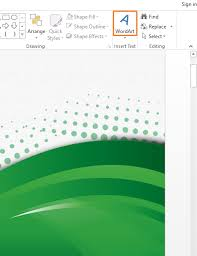 how to use the missing word art feature in powerpoint 2013 free
