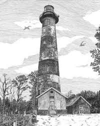 drawn lighhouse realistic pencil and in color drawn lighhouse