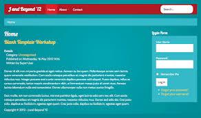 joomla blank template как создать шаблон на базе blank template и twitter bootstrap