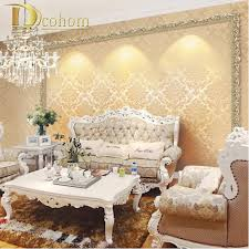 Aliexpress Home Decor Aliexpress Com Buy European Vintage Luxury Damask Wall Paper Pvc