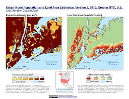 Usa Map New York City by Maps Low Elevation Coastal Zone Lecz Sedac