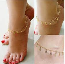 2018 2015 simple gold anklet ankle bracelet fashion