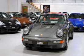 porsche slate gray metallic used porsche 964 3 3 turbo jzm limited showroom