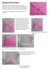 how to make envelopes how to make origami envelope origamienvelopeinstructions460