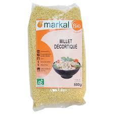 comment cuisiner le millet millet décortiqué céréales produit bio markal