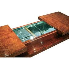 mirrored coffee table bar 70 u0027s style in parchment goatskin and