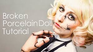 make up tutorial broken porcelain doll creepy doll halloween