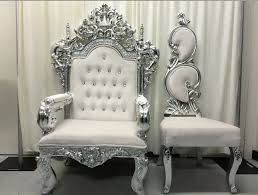 wedding chairs allcargos tent event rentals inc white his hers chair set