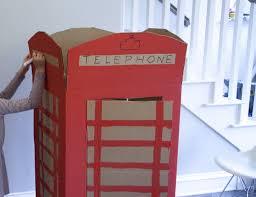 diy cardboard red phone booth or make it a tardis easy kids