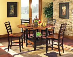 abaco square round drop leaf counter height pedestal table by