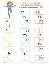 missing numbers counting bee worksheets numbers and first grade