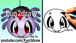 how to draw easy stuff how to draw a spider drawing tutorials