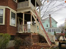 steps to support porch roof and replace wood columns with pvc