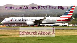 United Airlines American Airlines by First Flight American Airlines B757 200 N199an At Edinburgh