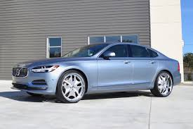 teal car white rims here u0027s what volvo u0027s new s90 looks like on massive wheels