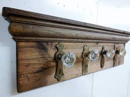 coat rack made from decorative door knobs u0026 back plates diy