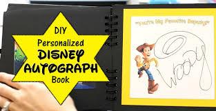 personalized autograph books diy disney autograph book plus character meet tips