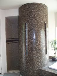 glass block bathroom ideas tile and glass block snail shower bathroom design ideas