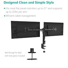 amazon com wali dual lcd monitor desk mount stand fully