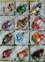 12 days of blown glass ornaments