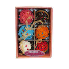 kurt adler set of six 2 75 in foam cupcake ornaments d2986 the