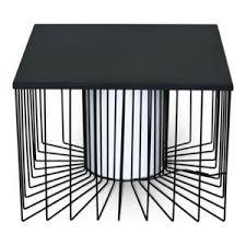 alinea bout de canapé alinéa bout de canapé carré lumineux en acier pas cher