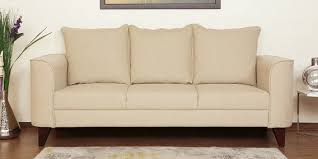 buy lara three seater sofa in beige colour by casacraft online