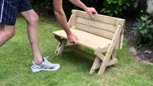 childrens kids folding bench picnic table combo youtube