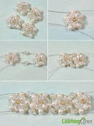 diy beaded flower bracelet images Bead bracelet designs to make how to make a beaded flower jpg