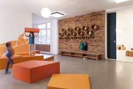 Plywood Design Colourful Kindergarten Design From Birch Plywood Koskisen Oy