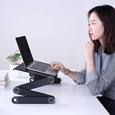 Laptop Stand Desk Aoou Adjustable Laptop Stand Desk With 2 Cpu Cooling Fans And
