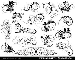 swirls clipart digital swirls clip vector swirls photoshop