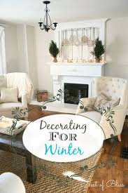 Living Room Mantel Decor Winter Mantel Decorating For Winter Nest Of Bliss