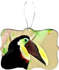 green and yellow toucan bird design rectangle tree