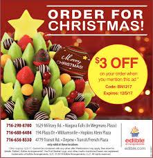 christmas fruit arrangements for christmans edible arrangements depew ny