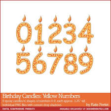 number birthday candles birthday candles yellow numbers pertiet elements el929904