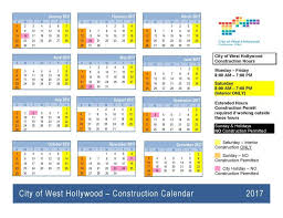 construction holidays city of west