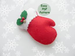 pdf pattern mitten ornaments pattern felt mitten