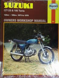suzuki gt125 and 185 twins owner u0027s workshop manual haynes owners
