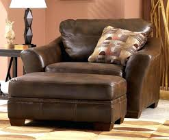 Oversized Furniture Living Room Leather Club Chair And Ottoman Beautiful Chairs With Ottomans For