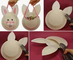 Easy Easter Decorations Pinterest by How To Make Easter Paper Plate Basket Easter Diy Bunny Diy Ideas