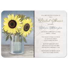 cheap bridal shower invitations shower invitations rustic sunflower blue jar