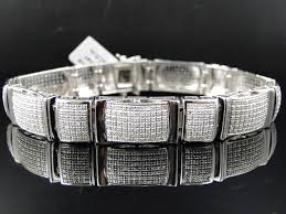 bracelet diamond ebay images Pave set diamond bracelet 50 ct 9 inch jpg
