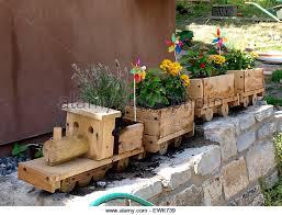 wooden planter stock photos u0026 wooden planter stock images alamy